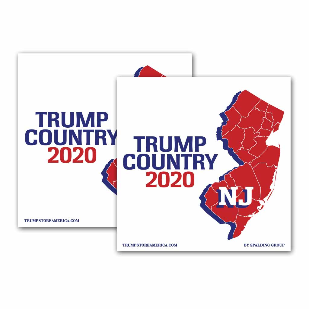 New Jersey is Trump Country 2020 – Bumper Sticker pack of 2