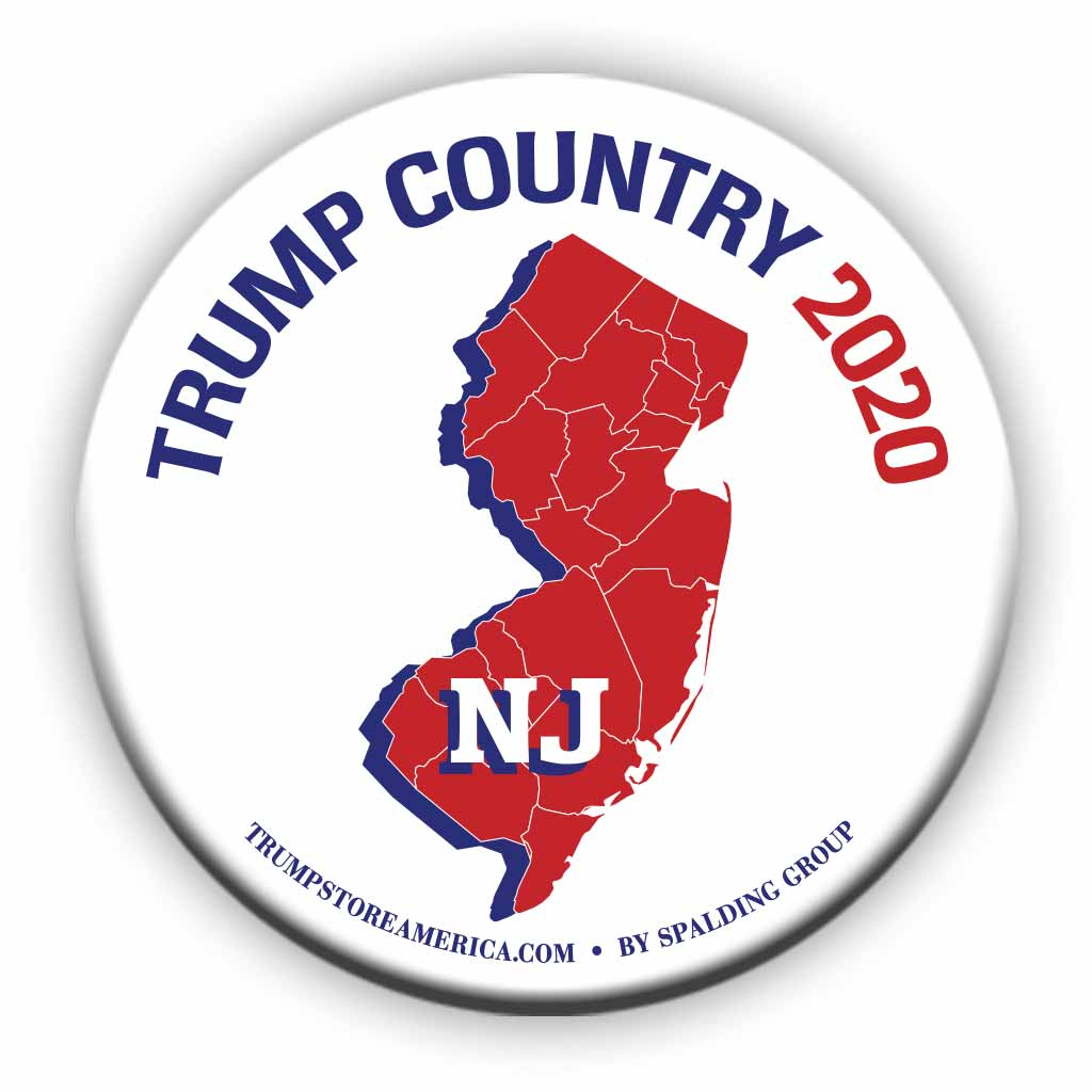 "New Jersey is Trump Country 2020 – 3"" Round Button"