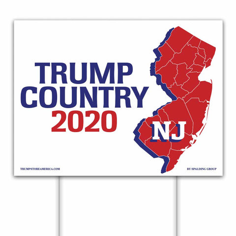 New Jersey is Trump Country 2020 – Yard/Rally Sign