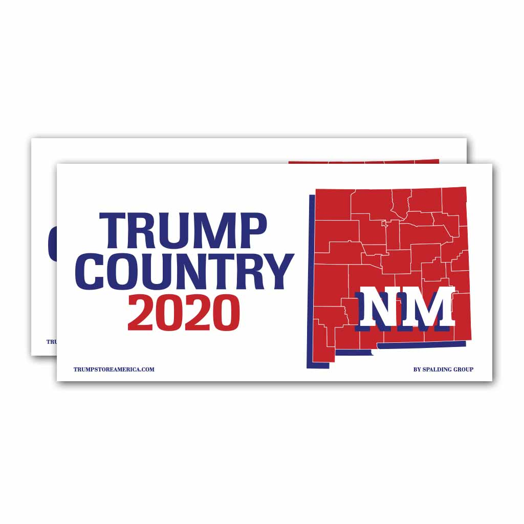New Mexico is Trump Country 2020 – Bumper Sticker pack of 2