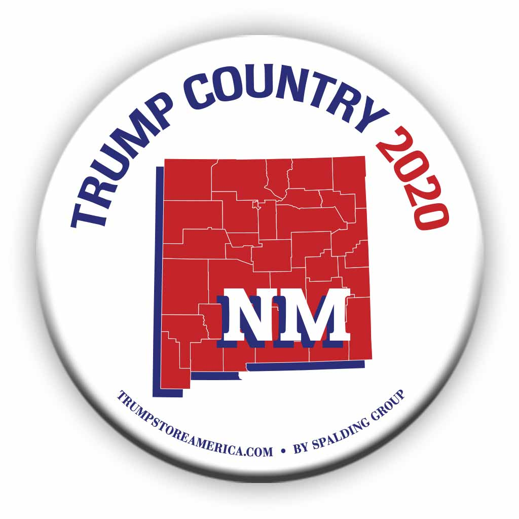 "New Mexico is Trump Country 2020 – 3"" Round Button"