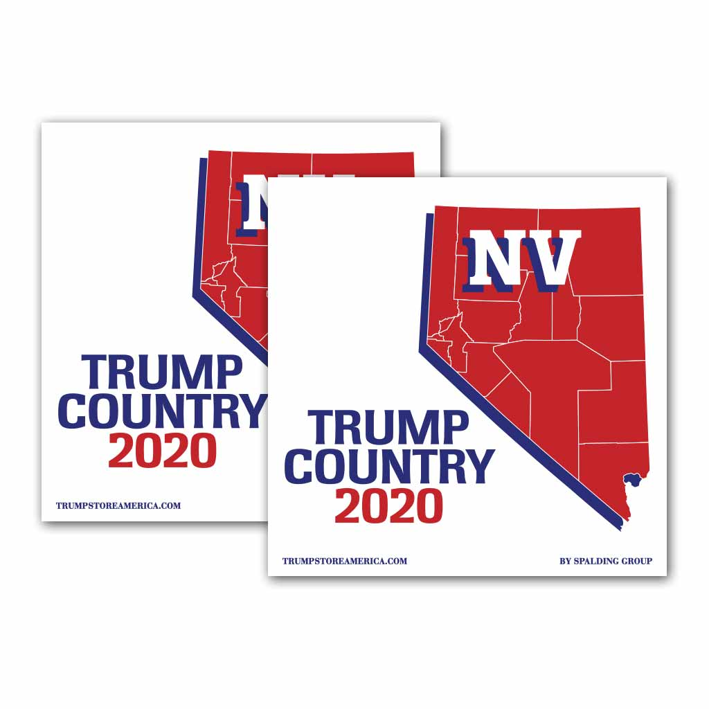 Nevada is Trump Country 2020 – Bumper Sticker pack of 2