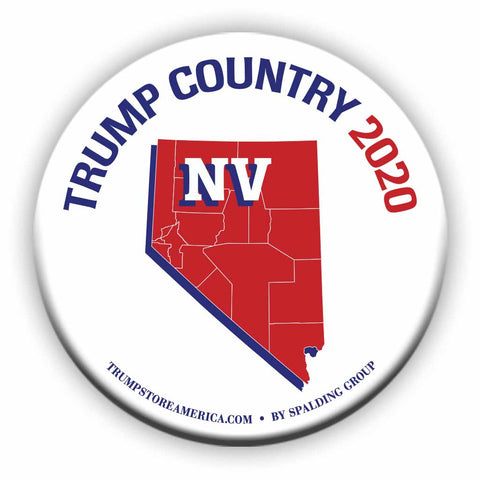 "Nevada is Trump Country 2020 – 3"" Round Button"