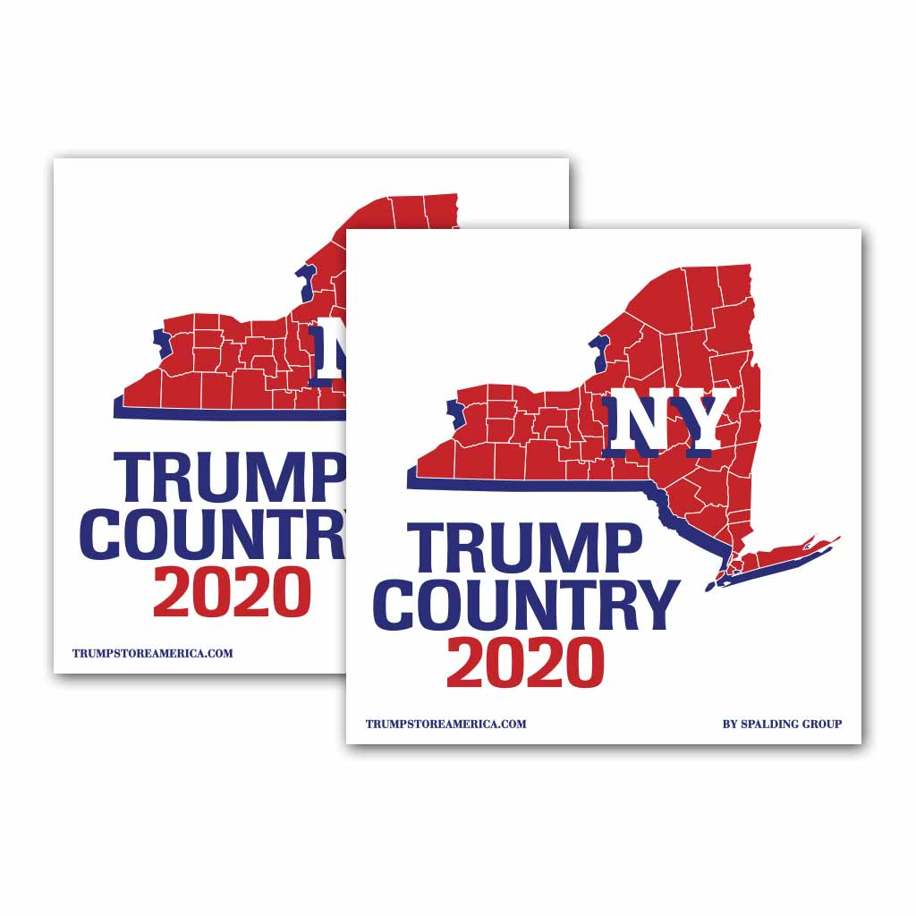New York is Trump Country 2020 – Bumper Sticker pack of 2