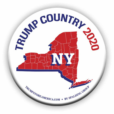 "New York is Trump Country 2020 – 3"" Round Button"
