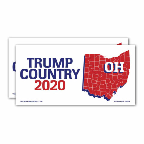Ohio is Trump Country 2020 – Bumper Sticker pack of 2