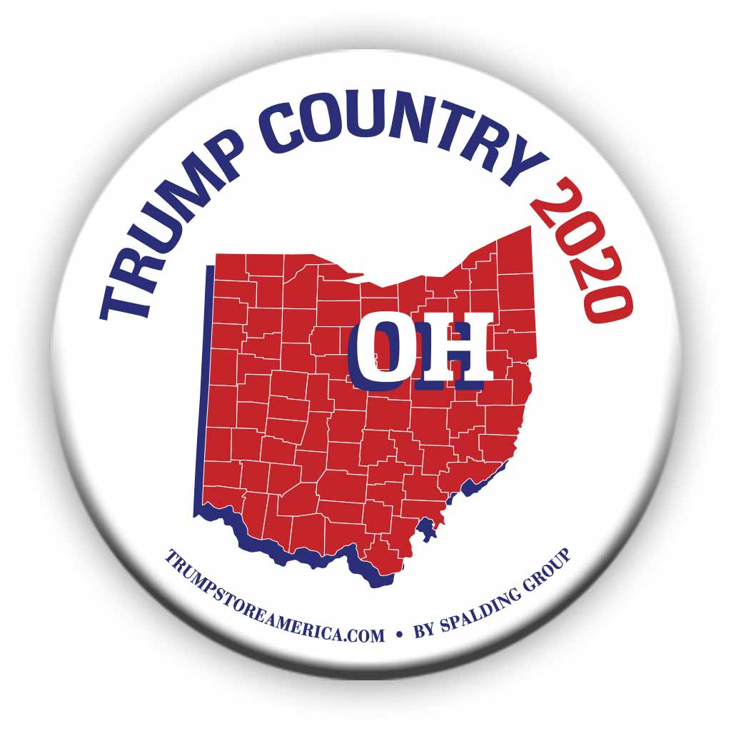 "Ohio is Trump Country 2020 – 3"" Round Button"