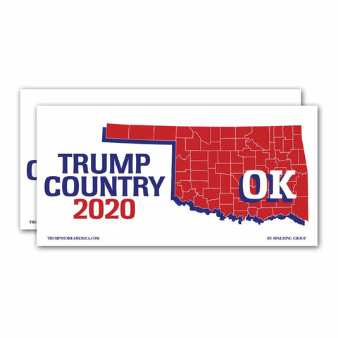 Oklahoma is Trump Country 2020 – Bumper Sticker pack of 2