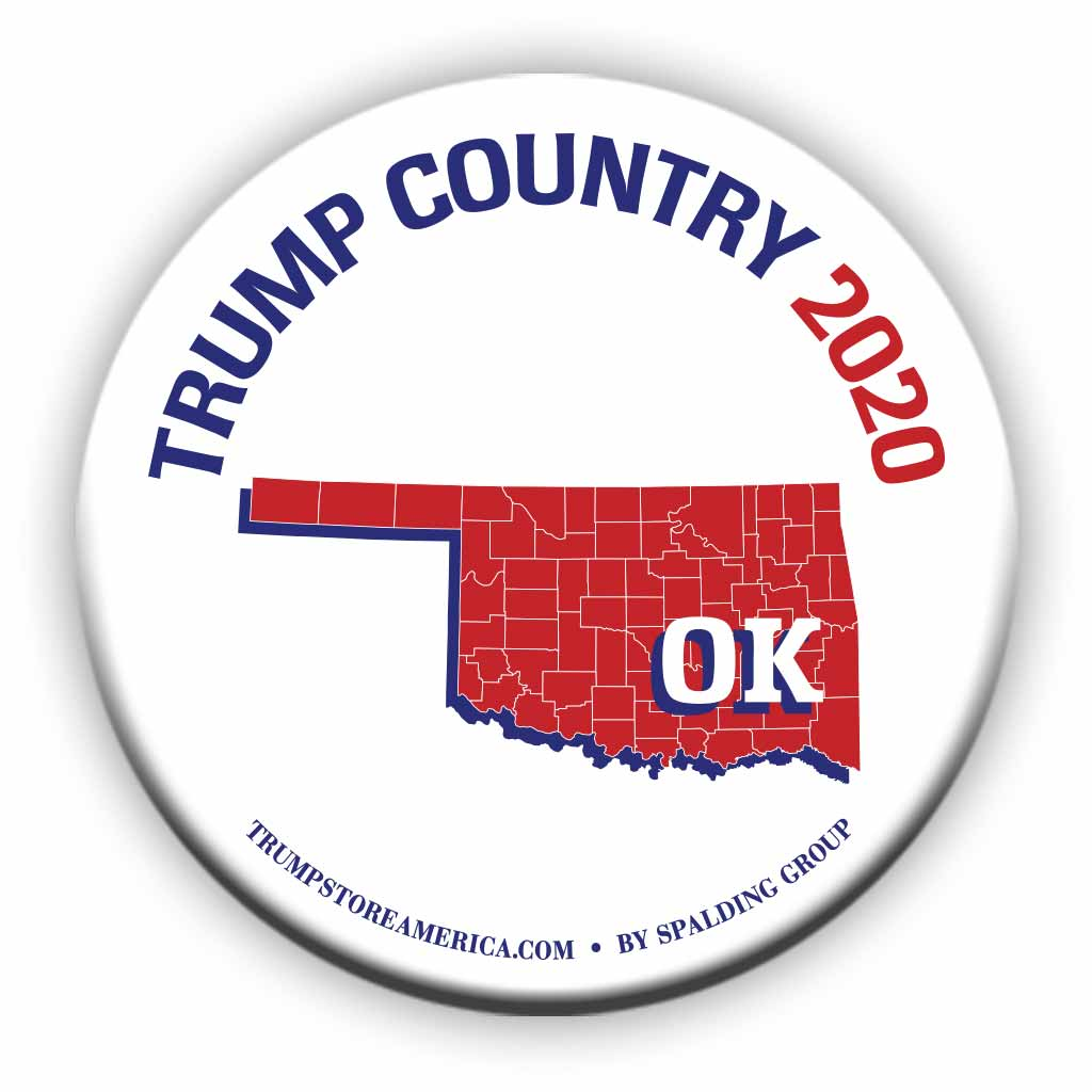 "Oklahoma is Trump Country 2020 – 3"" Round Button"