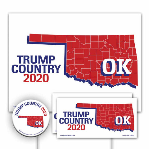 Oklahoma is Trump Country Yard Sign Kit