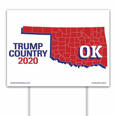 Oklahoma is Trump Country 2020 – Yard/Rally Sign