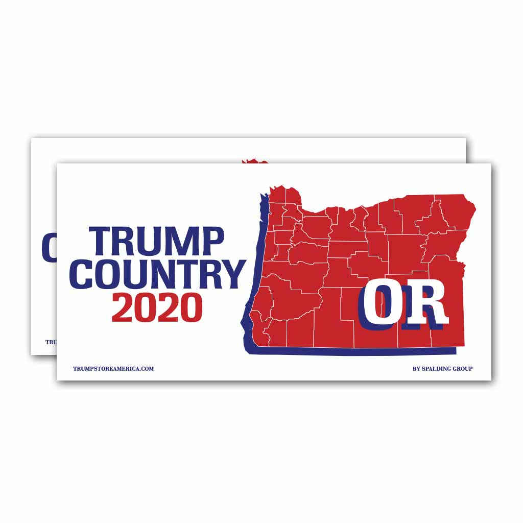 Oregon is Trump Country 2020 – Bumper Sticker pack of 2
