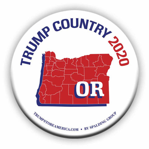 "Oregon is Trump Country 2020 – 3"" Round Button"