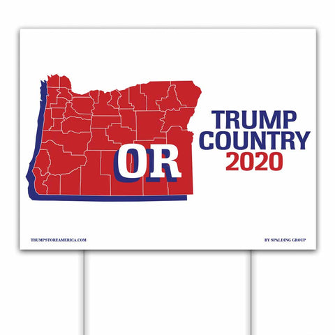 Oregon is Trump Country 2020 – Yard/Rally Sign