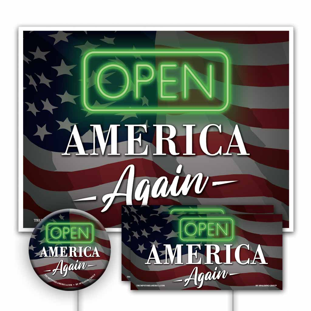 Trump 2020 Yard Sign Kit - Open America Again