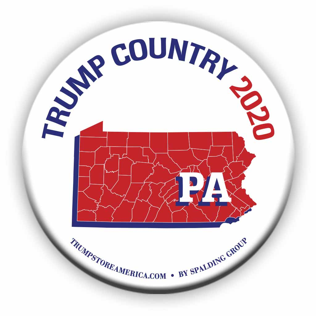 "Pennsylvania is Trump Country 2020 – 3"" Round Button"