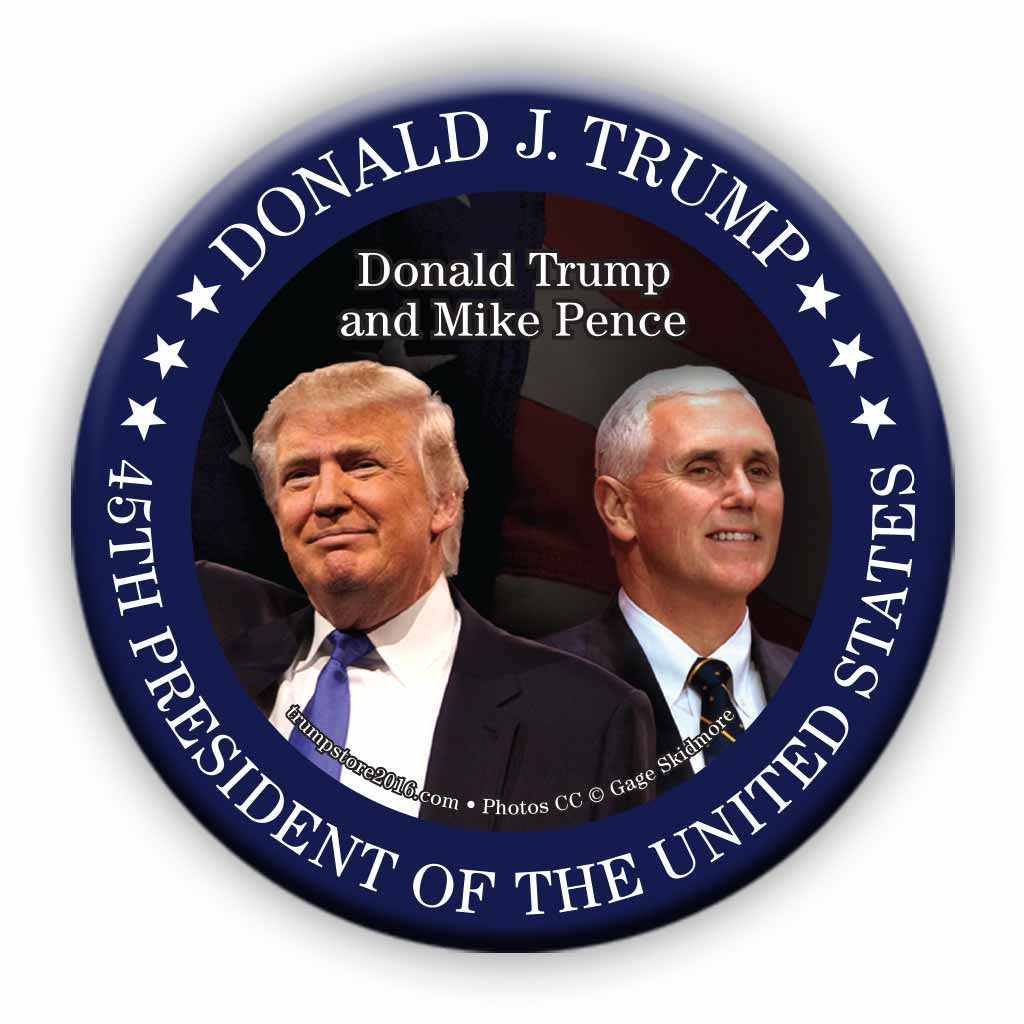 President Trump and Vice President Pence Photo Button