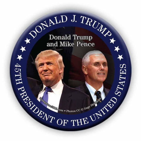 Trump Button - Trump Pence Photo