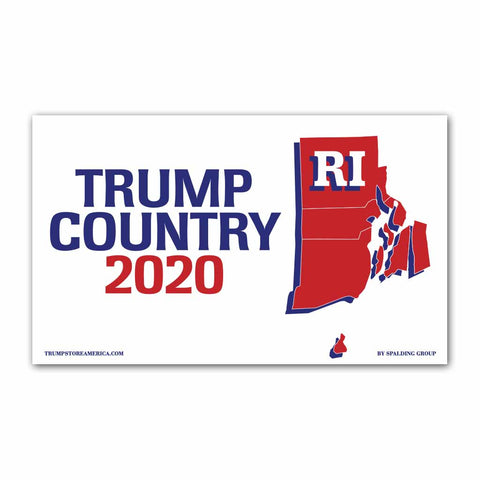 Rhode Island is Trump Country 2020 - Vinyl 5' x 3' Banner