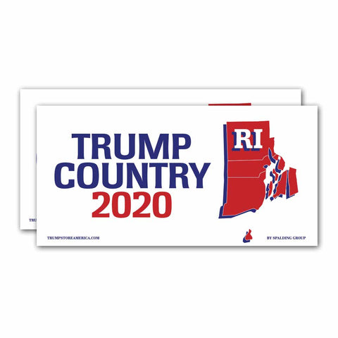 Rhode Island is Trump Country 2020 – Bumper Sticker pack of 2