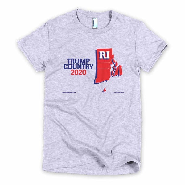 Rhode Island is Trump Country Women's Slim Fit T-shirt