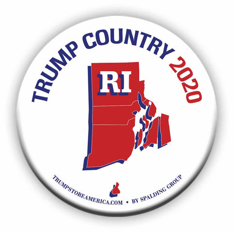 "Rhode Island is Trump Country 2020 – 3"" Round Button"