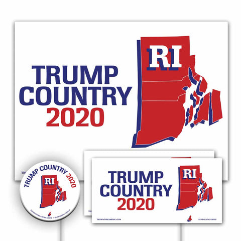 Rhode Island is Trump Country Yard Sign Kit