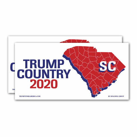 South Carolina is Trump Country 2020 – Bumper Sticker pack of 2