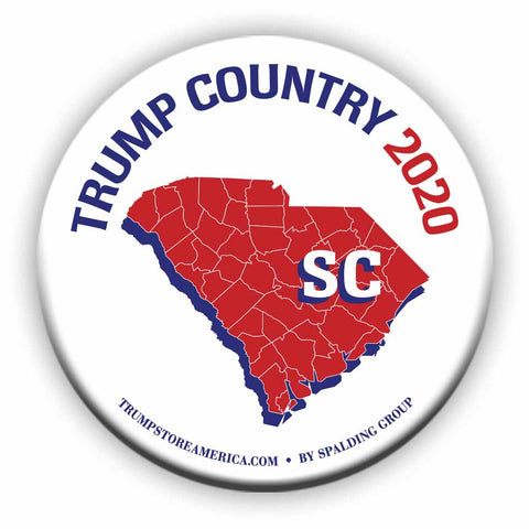 "South Carolina is Trump Country 2020 – 3"" Round Button"