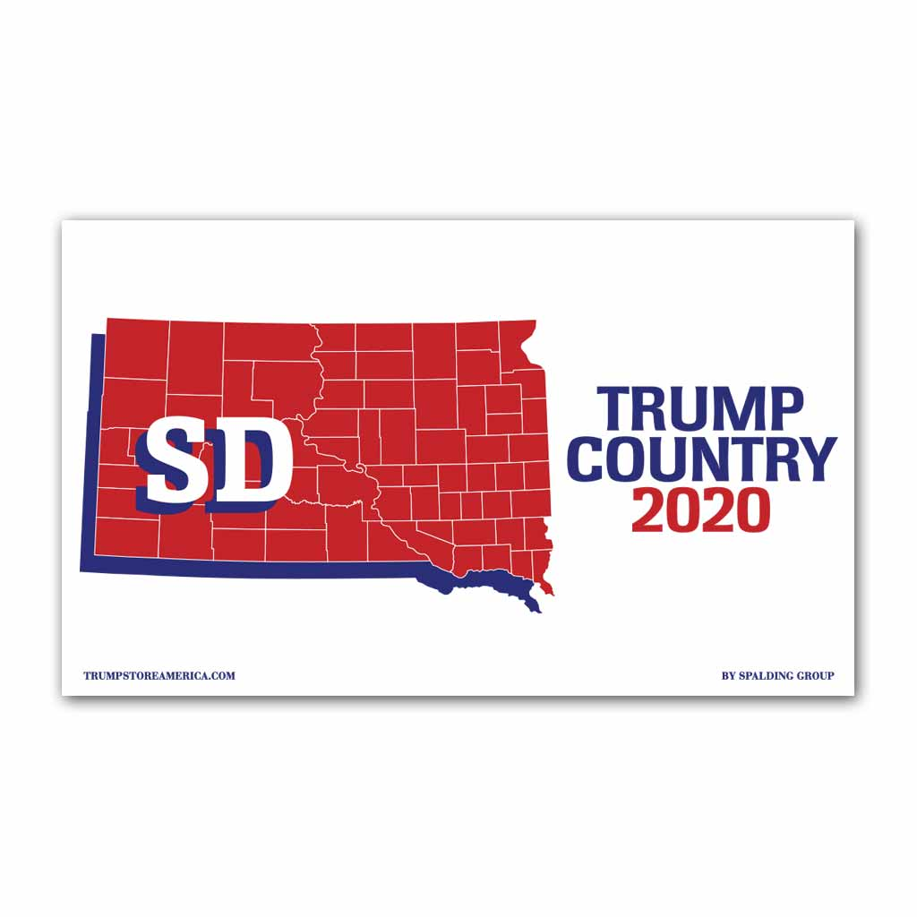 South Dakota is Trump Country 2020 - Vinyl 5' x 3' Banner