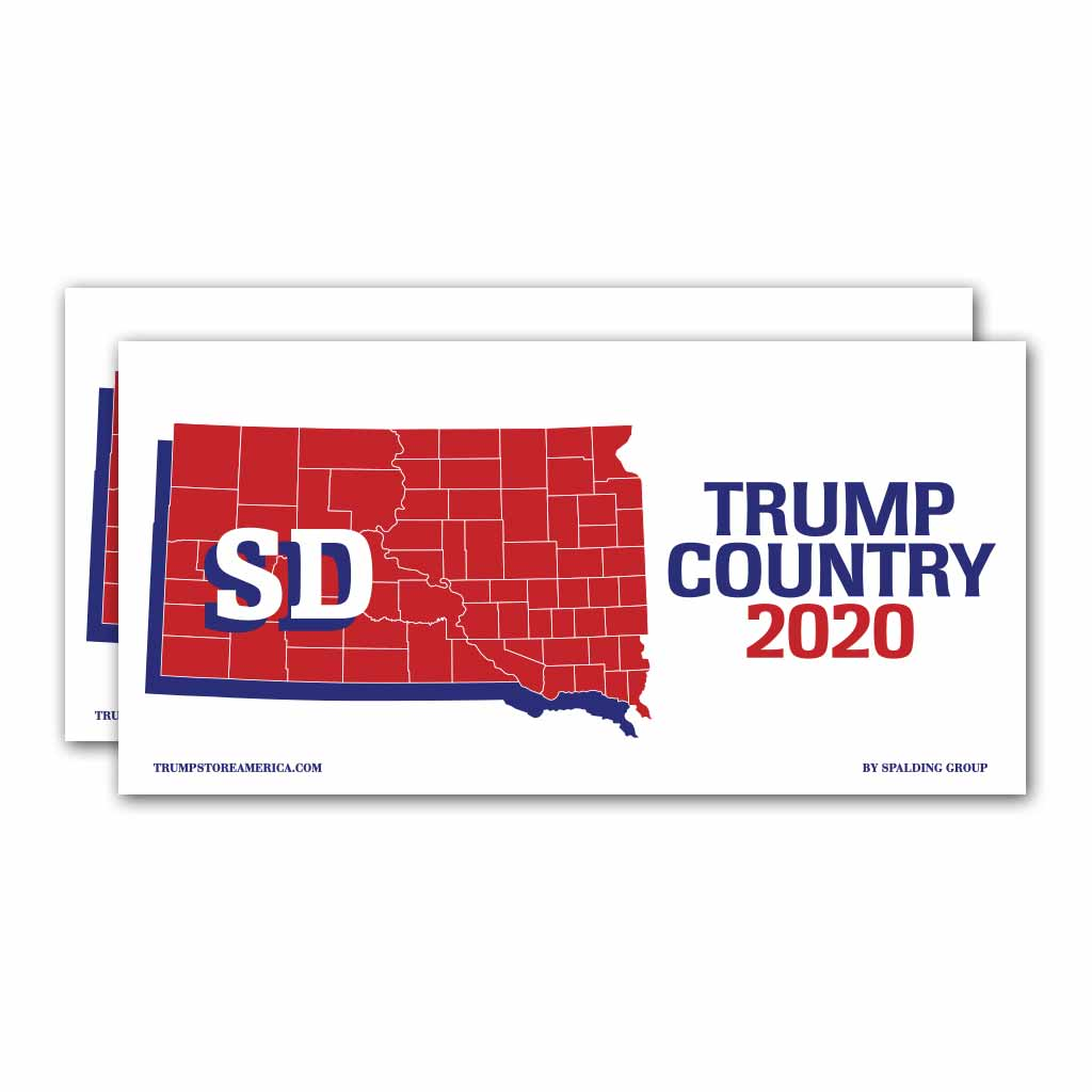 South Dakota is Trump Country 2020 – Bumper Sticker pack of 2