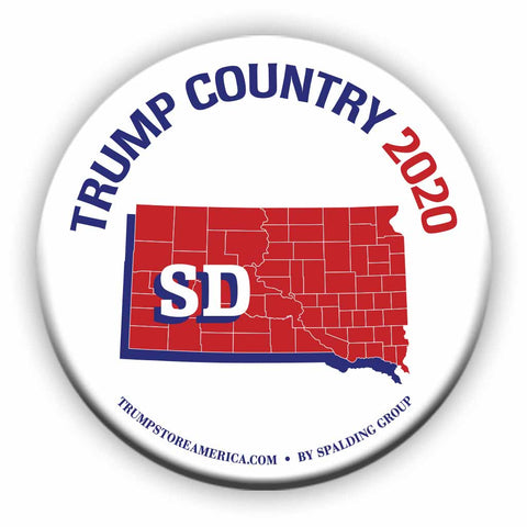"South Dakota is Trump Country 2020 – 3"" Round Button"