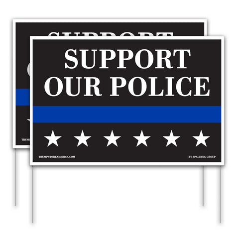 Support Our Police Yard Sign 2pk
