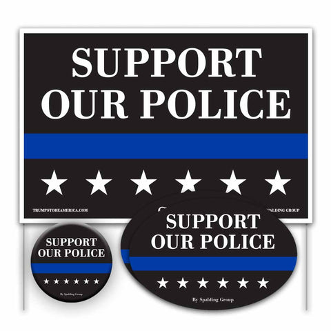 Trump 2020 Yard Sign Kit - Support our Police