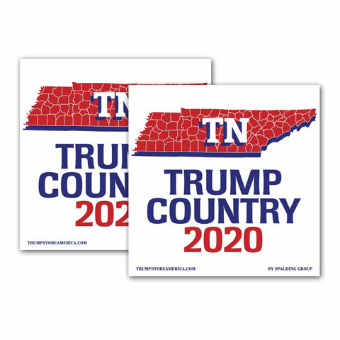 Tennessee is Trump Country 2020 – Bumper Sticker pack of 2