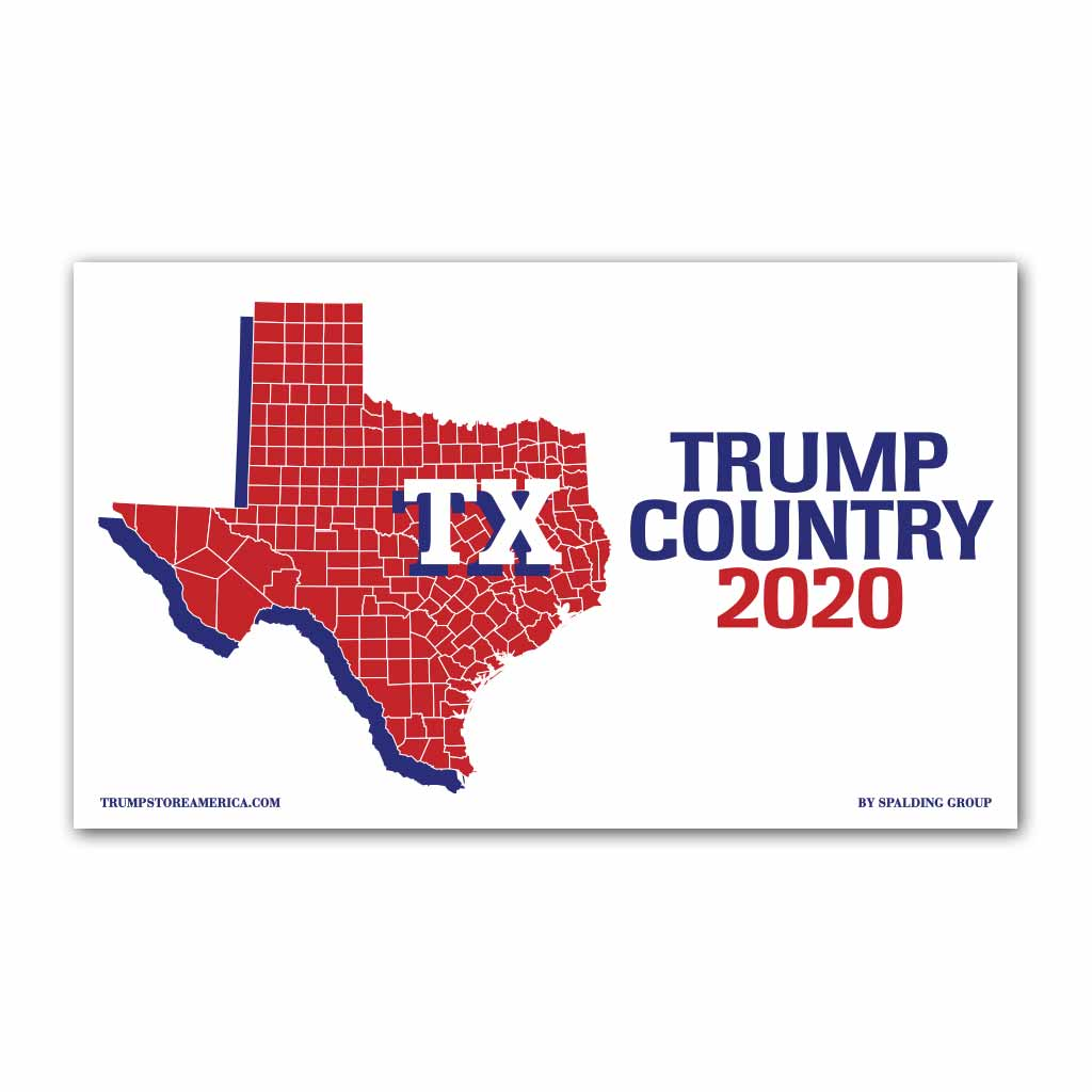 Texas is Trump Country 2020 - Vinyl 5' x 3' Banner