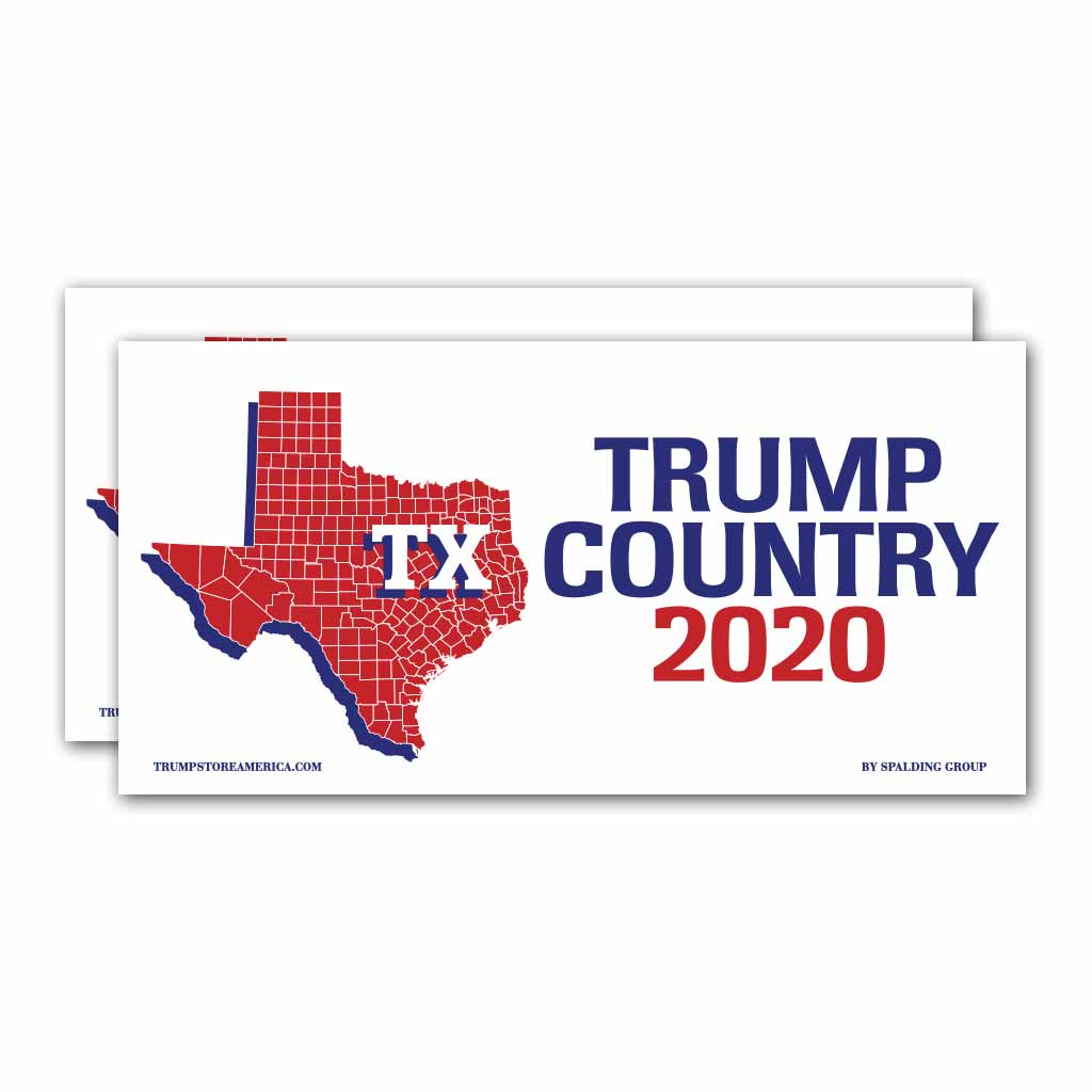 Texas is Trump Country 2020 – Bumper Sticker pack of 2