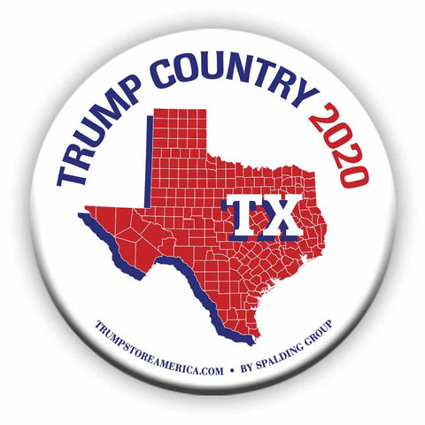 "Texas is Trump Country 2020 – 3"" Round Button"