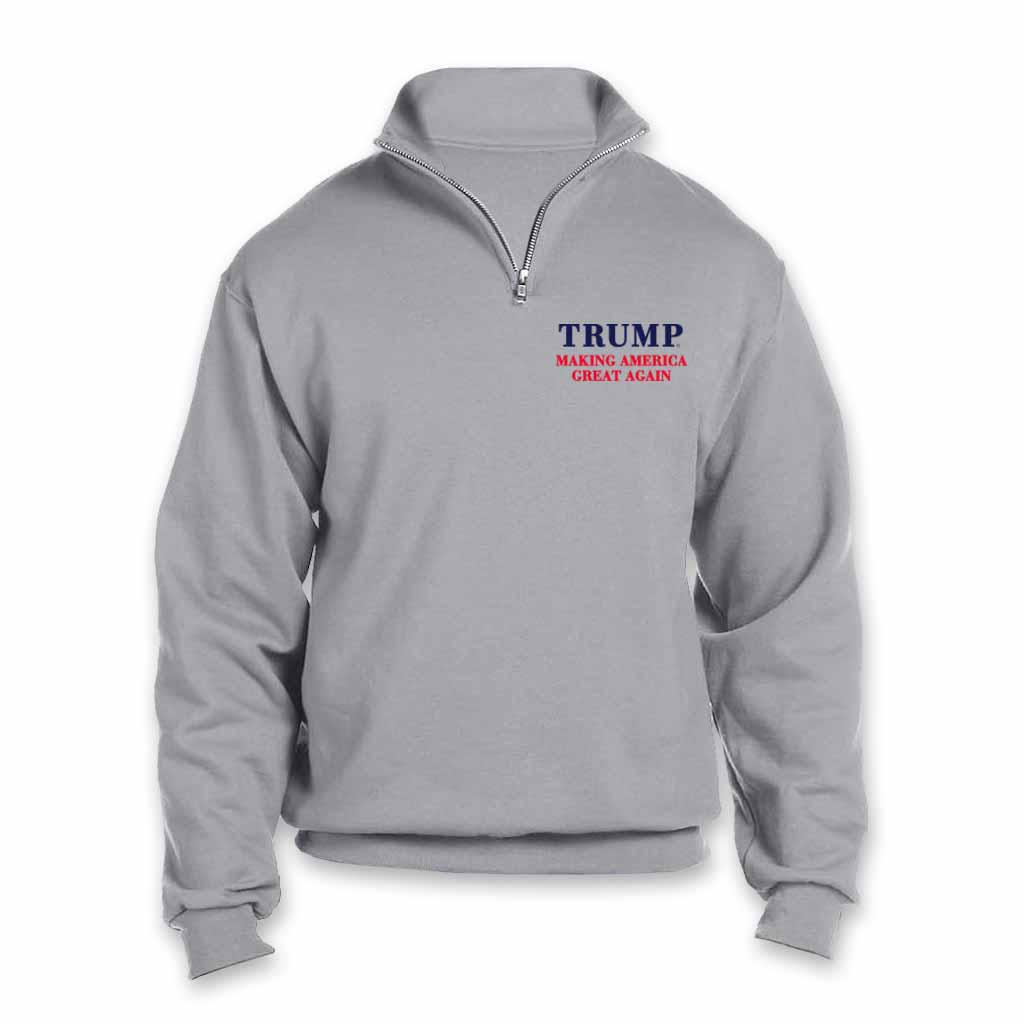 Trump MAGA Fleece Pullover - Gray