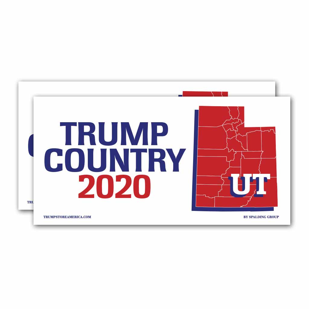 Utah is Trump Country 2020 – Bumper Sticker pack of 2