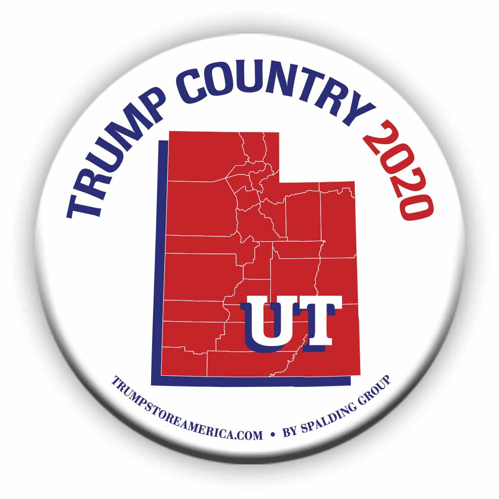 "Utah is Trump Country 2020 – 3"" Round Button"