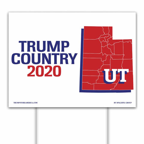 Utah is Trump Country 2020 – Yard/Rally Sign