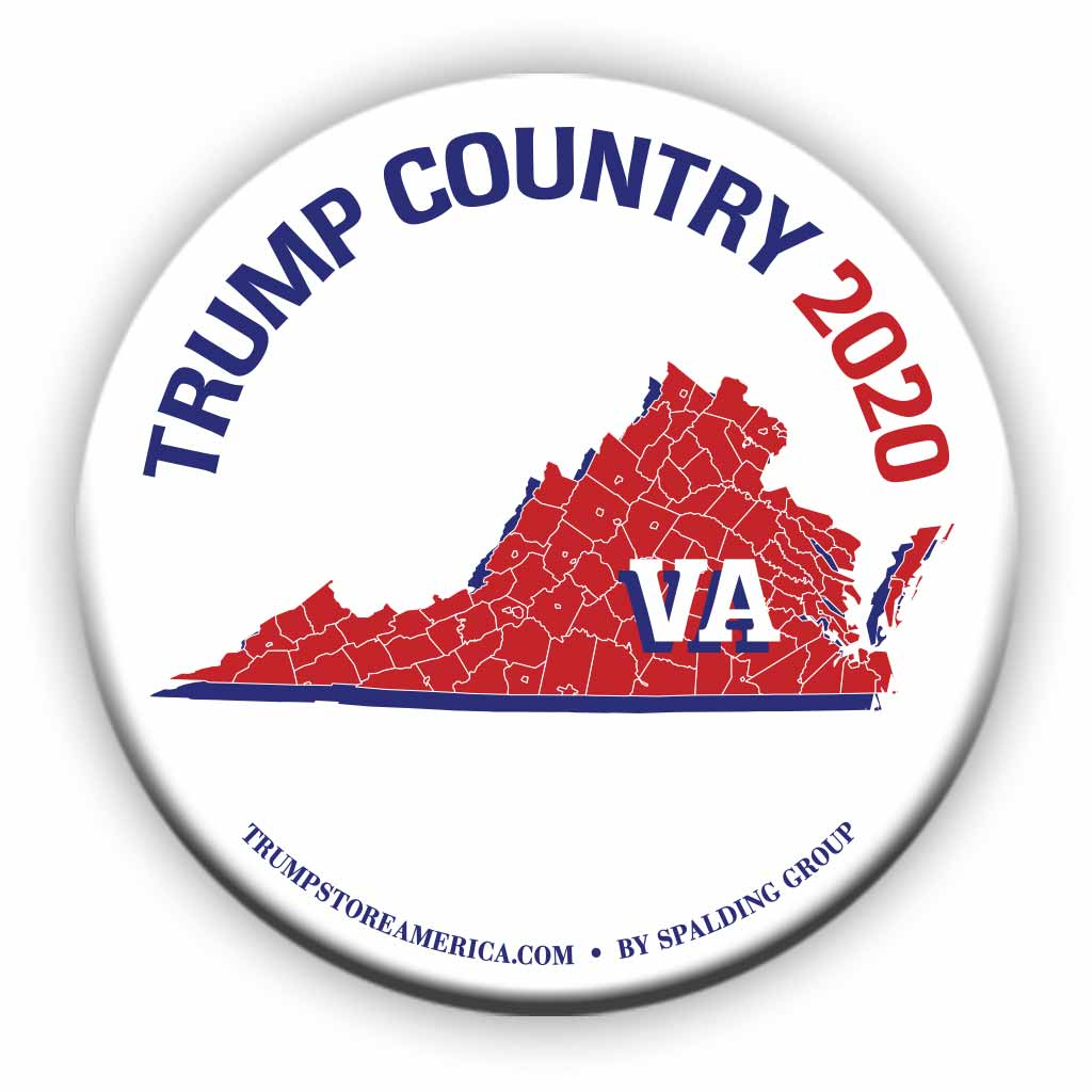 "Virginia is Trump Country 2020 – 3"" Round Button"