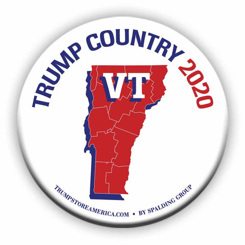 "Vermont is Trump Country 2020 – 3"" Round Button"