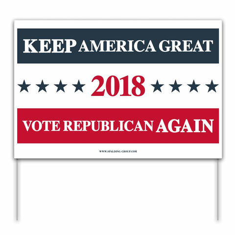 Vote Republican 2018 Yard Sign