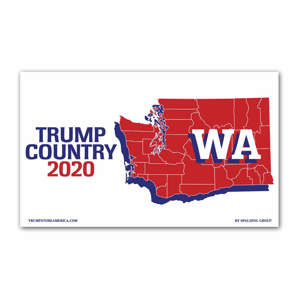 Washington is Trump Country 2020 - Vinyl 5' x 3' Banner