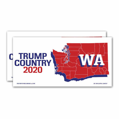 Washington is Trump Country 2020 – Bumper Sticker pack of 2