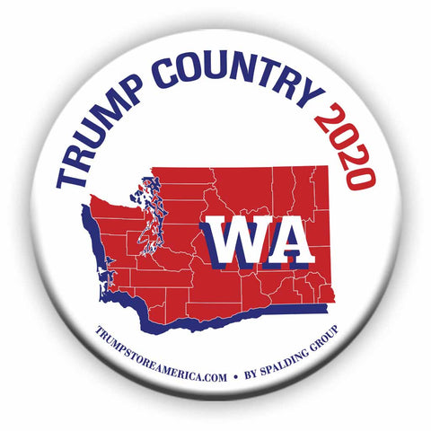 "Washington is Trump Country 2020 – 3"" Round Button"