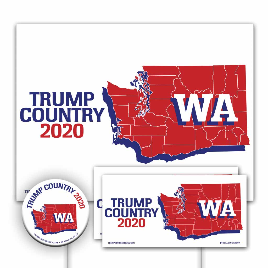 Washington is Trump Country Yard Sign Kit
