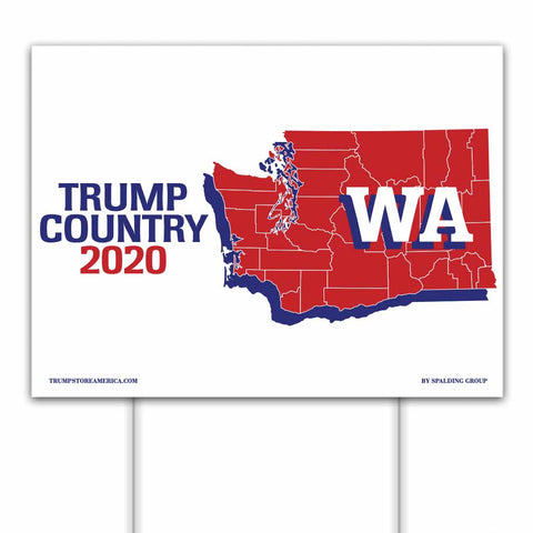 Washington is Trump Country 2020 – Yard/Rally Sign